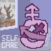 The Cover for the Self Care pixel art zine
